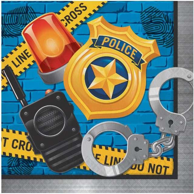 "Serwetki ""Police Party"", CreativeConverting, 33 cm, 16 szt"