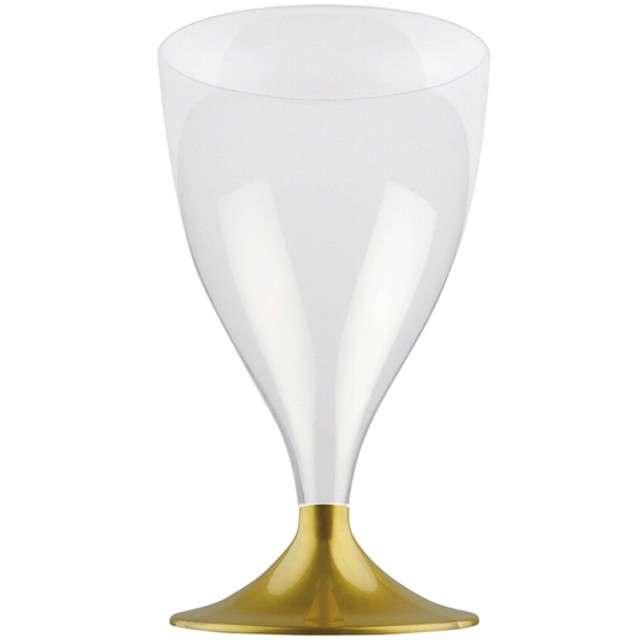 """Kieliszki jednorazowe """"Wino Claassic"""", złote, GoldPlast, 200 ml, 10 szt"""