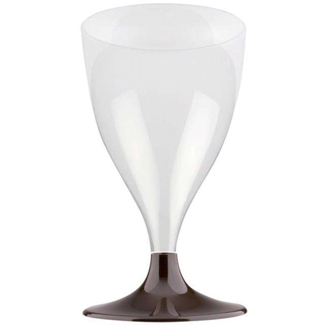 """Kieliszki jednorazowe """"Wino Claassic"""", brązowe, GoldPlast, 200 ml, 10 szt"""