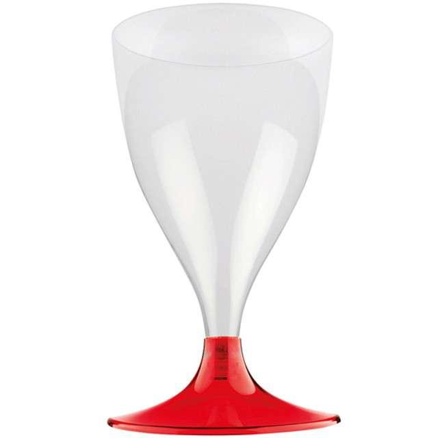 """Kieliszki jednorazowe """"Wino Claassic"""", czerwone transparentne, GoldPlast, 200 ml, 10 szt"""