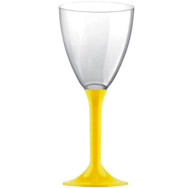 """Kieliszki jednorazowe """"Wino Classic"""", żółte, GoldPlast, 180 ml, 10 szt"""