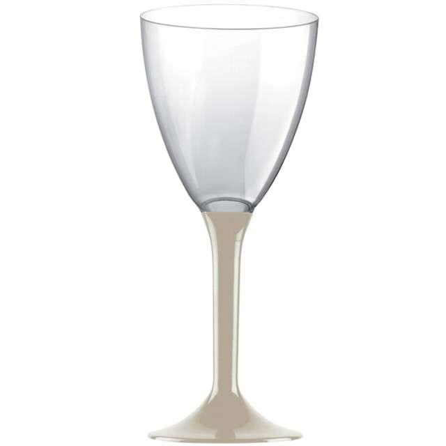 """Kieliszki jednorazowe """"Wino Classic"""", beżowe, GoldPlast, 180 ml, 10 szt"""