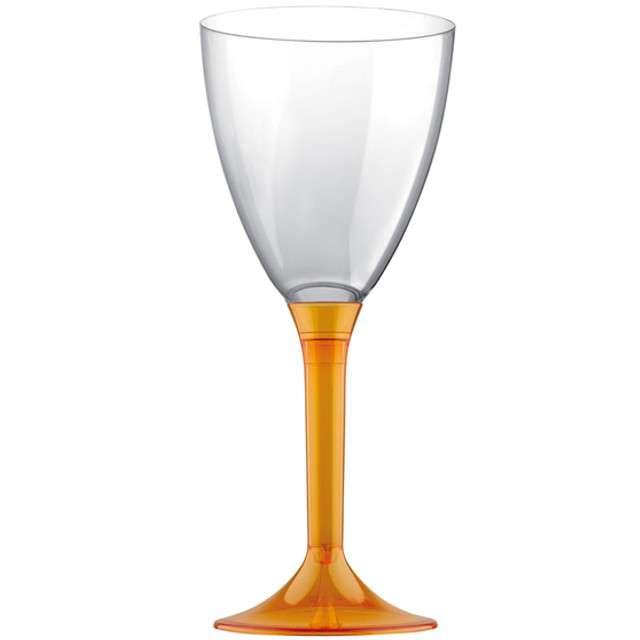 """Kieliszki jednorazowe """"Wino Classic"""", pomarańczowe, GoldPlast, 180 ml, 10 szt"""