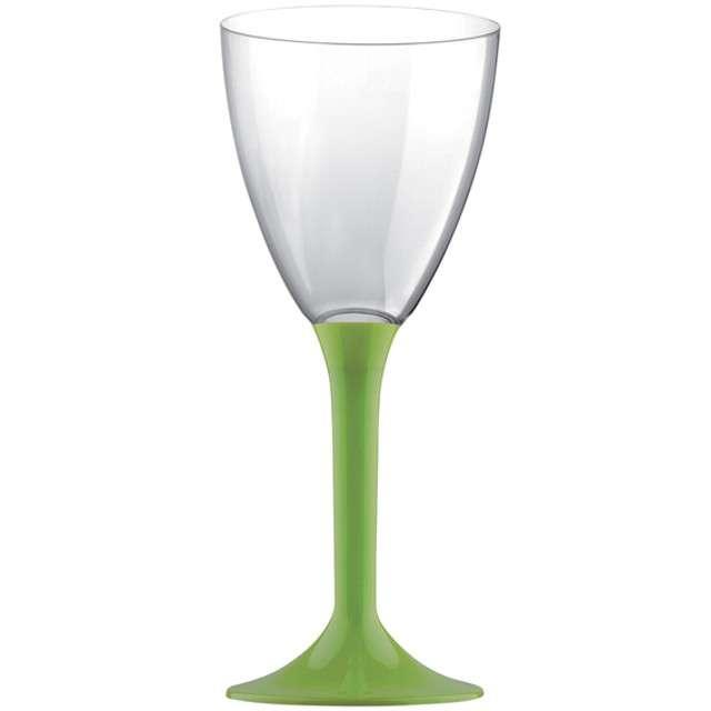 """Kieliszki jednorazowe """"Wino Classic"""", zielone jasne, GoldPlast, 180 ml, 10 szt"""