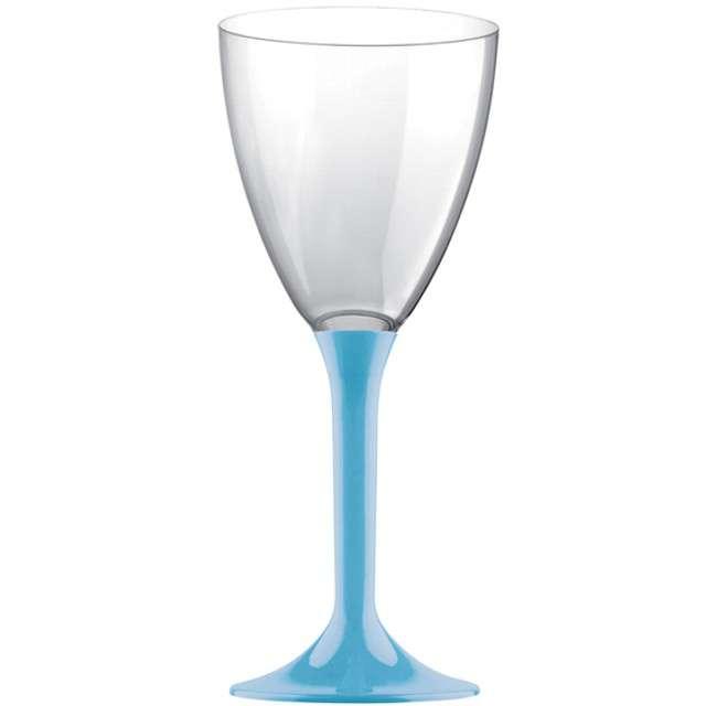 """Kieliszki jednorazowe """"Wino Classic"""", turkusowe, GoldPlast, 180 ml, 10 szt"""