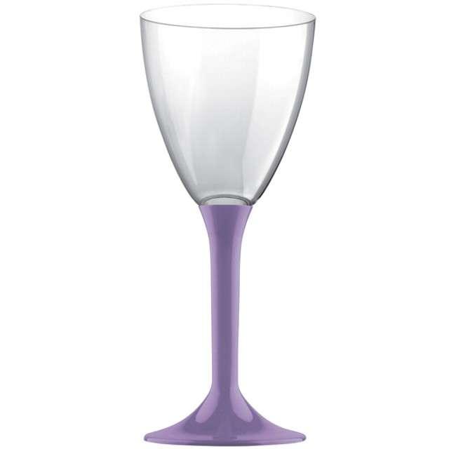 """Kieliszki jednorazowe """"Wino Classic"""", liliowe, GoldPlast, 180 ml, 10 szt"""