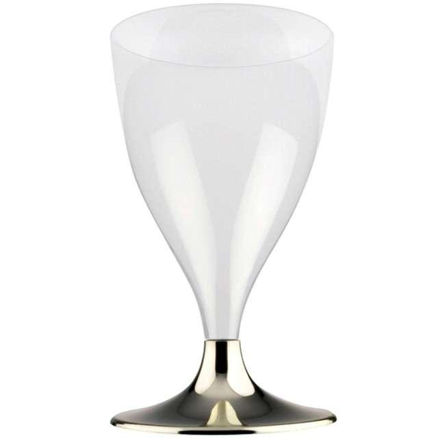 Kieliszki jednorazowe Wino Premium złoty chrom GoldPlast 200 ml 10 szt