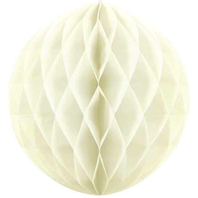 Kula bibułowa, kremowa jasna, 20 cm