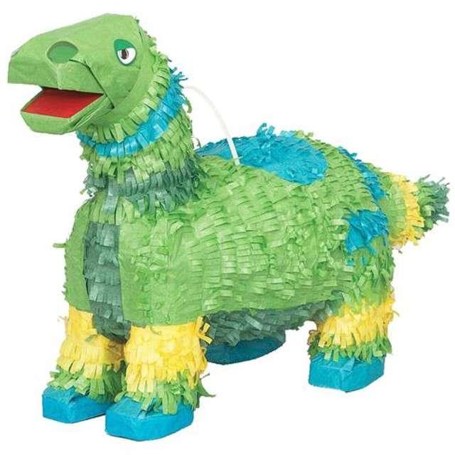 """Piniata """"Dinozaur"""", zielony, UNIQUE, 48x25 cm"""