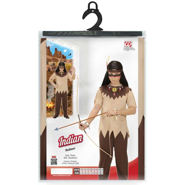 Strój dla dzieci Indianin Apacz WIDMANN rozm. 8-10 lat