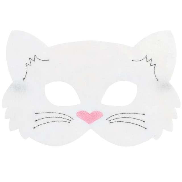 "Maska ""Kotek Biały"", filcowa, GODAN"