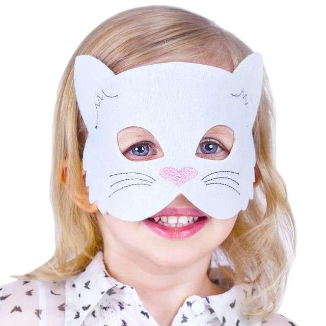 Maska Kotek Biały filcowa GODAN