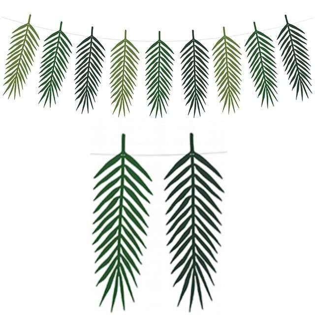 """Girlanda """"Aloha - Tropikalne Liście"""", zielona, PartyDeco, 125 cm"""