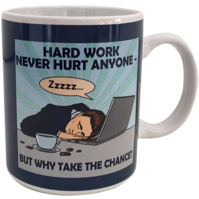 "Kubek ""Kac - Hard work never hurt anyone"", Spencer & Fleetwood, 330 ml"