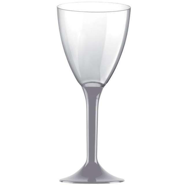 """Kieliszki jednorazowe """"Wino Classic"""", szare, GoldPlast, 180 ml, 10 szt"""
