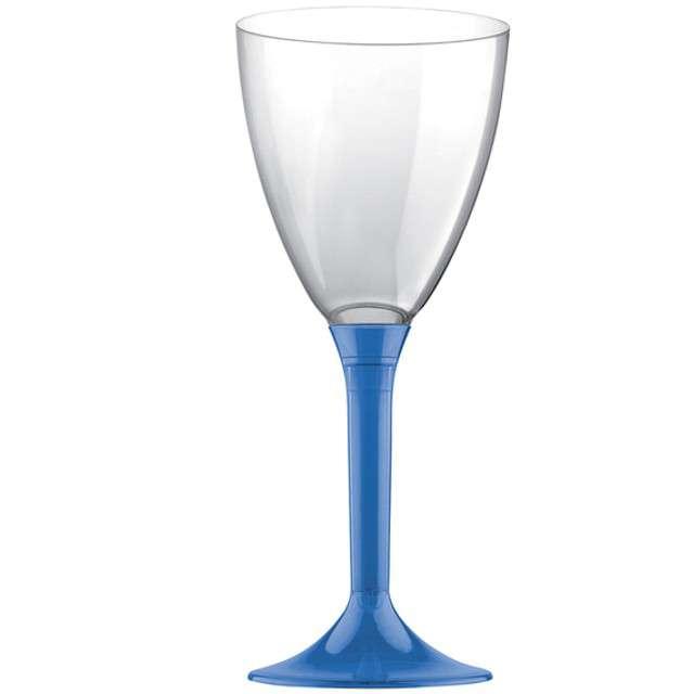 """Kieliszki jednorazowe """"Wino Classic"""", niebieskie, GoldPlast, 180 ml, 10 szt"""