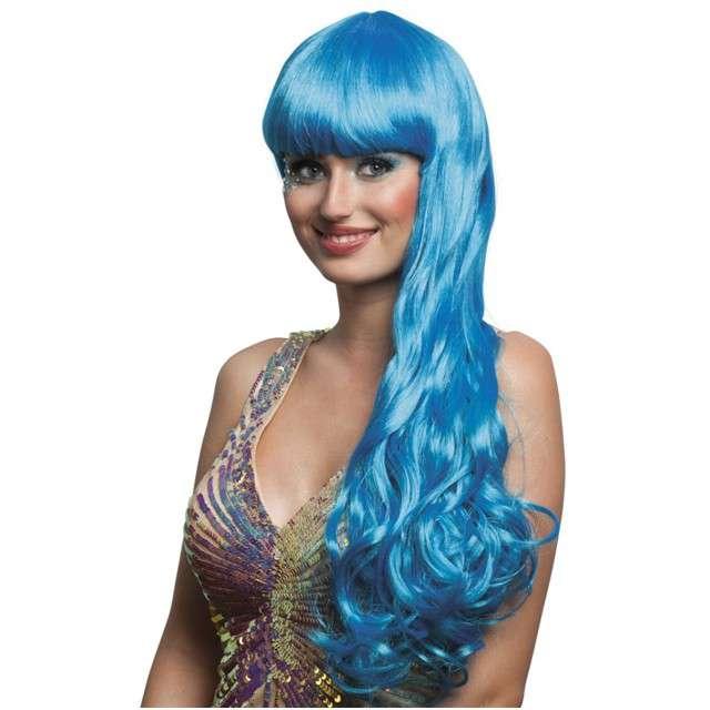 """Peruka party """"Syrena Oceana"""", niebieska, BOLAND"""