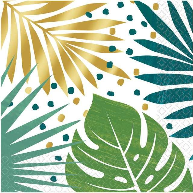"""Serwetki """"Liście Palmy - Key West"""", AMSCAN, 33 cm, 16 szt"""