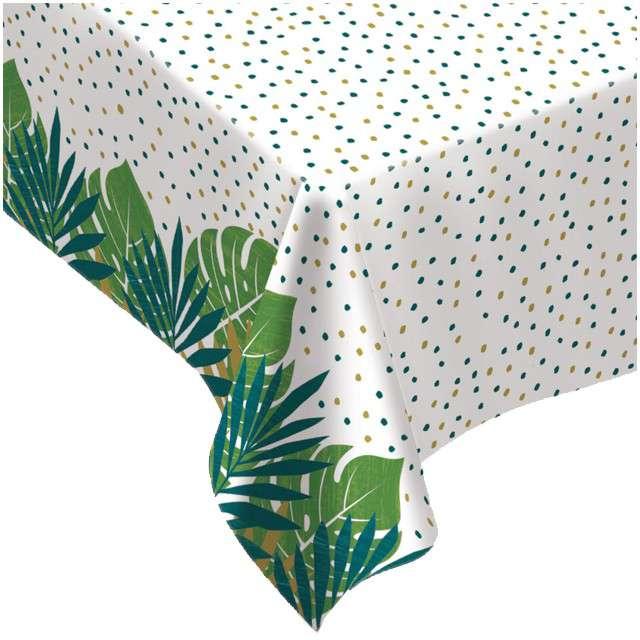 """Obrus foliowy """"Liście Palmy - Key West"""", AMSCAN, 228x132 cm"""