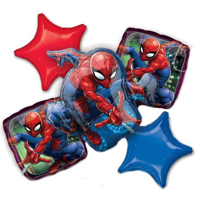 """Balon foliowy """"SpiderMan"""", AMSCAN, zestaw"""