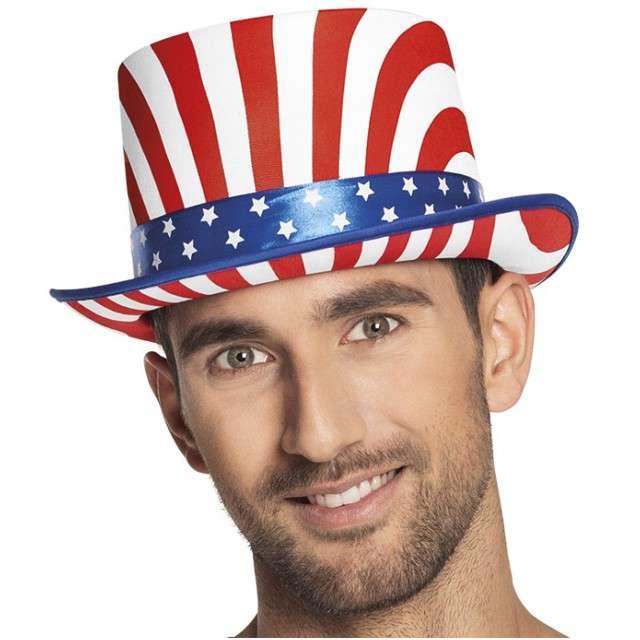 Kapelusz Uncle Sam - Flaga USA BOLAND