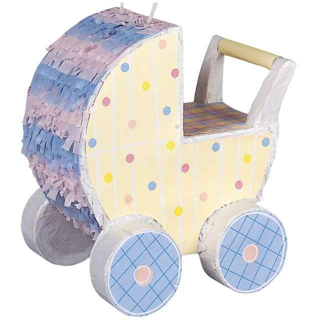 """Piniata """"Wózek Dziecięcy"""", UNIQUE, rozm. 26x24 cm"""
