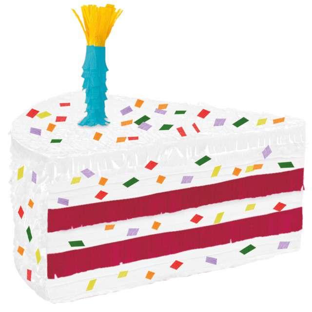 """Piniata """"Urodzinowy Tort"""", AMSCAN, 47x32 cm"""