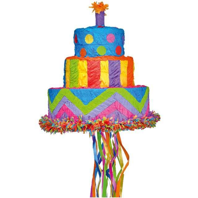 """Piniata """"Tort Urodzinowy"""", AMSCAN, 30x27 cm"""