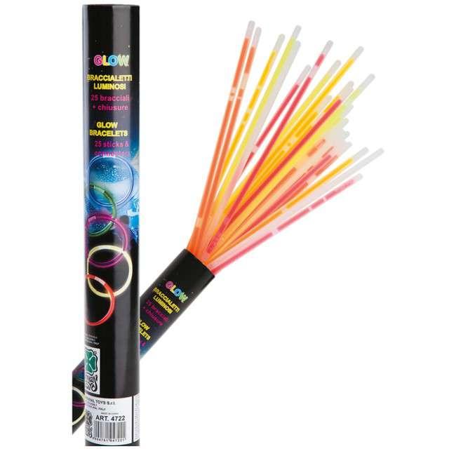 """Świecące bransoletki """"Glow"""", Carnival Toys, 20 cm, 25 szt"""