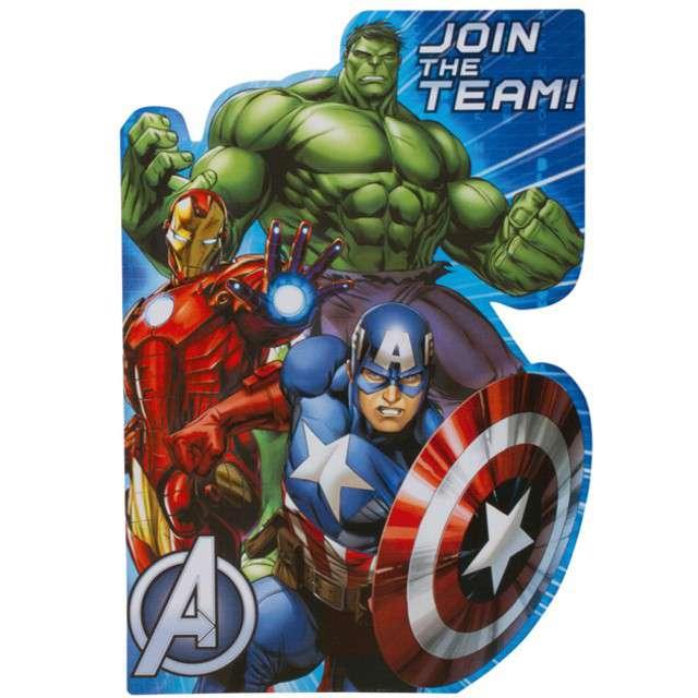 """Zaproszenia urodzinowe """"Avengers"""", AMSCAN, 8 szt"""