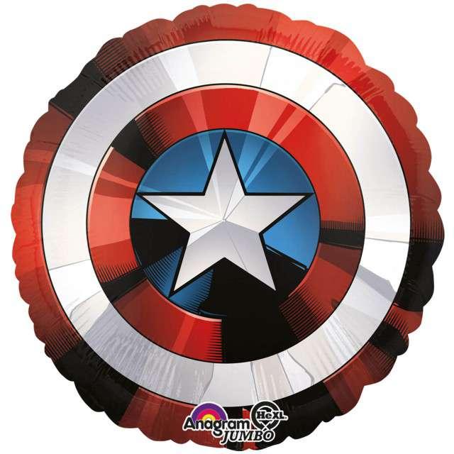 "Balon foliowy ""Avengers - Tarcza Kapitana Ameryki"", AMSCAN, 28"" CIR"