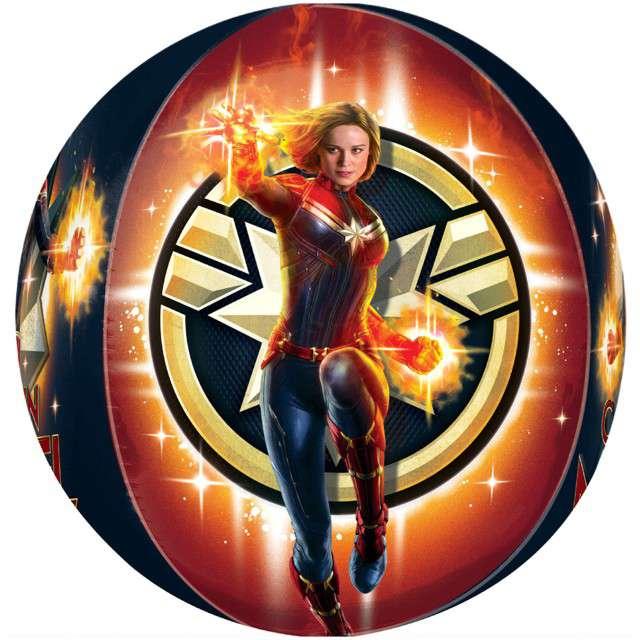 "Balon foliowy ""Kapitan Marvel"", AMSCAN, 16"" ORB"