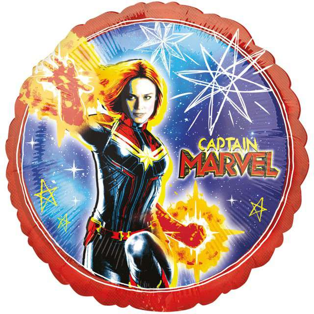 "Balon foliowy ""Kapitan Marvel"", AMSCAN, 18"" CIR"