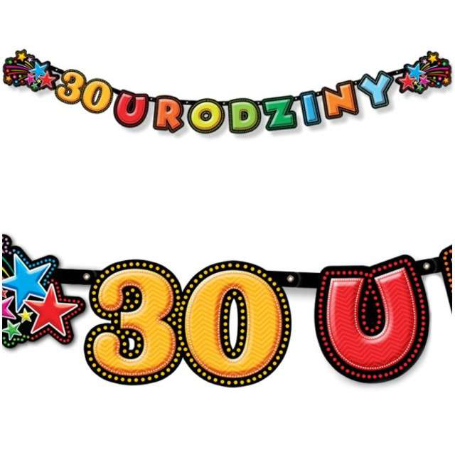 "Baner ""30 Urodziny"", DekoracjePolska, 195 cm"