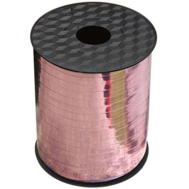 """Wstążka do balonów """"Classic Metalic"""", różowe złoto, VIPER, 5 mm x 205 m"""