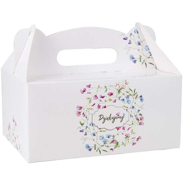 """Pudełko na ciasto """"Dziękujemy - Kwiatki"""", 5 szt"""