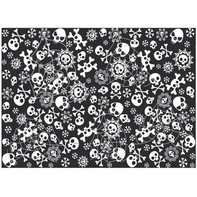 """Obrus foliowy """"Czaszki Halloween"""", FOLAT, 180x130 cm"""
