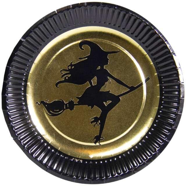 """Talerzyki papierowe """"Golden Witch"""", FOLAT, 23 cm, 8 szt"""