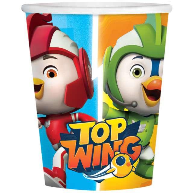 "Kubeczki papierowe ""Top Wing"", AMSCAN, 250 ml, 8 szt"