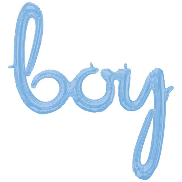 """Balon foliowy """"boy"""", niebieski, AMSCAN, 32"""" SHP"""