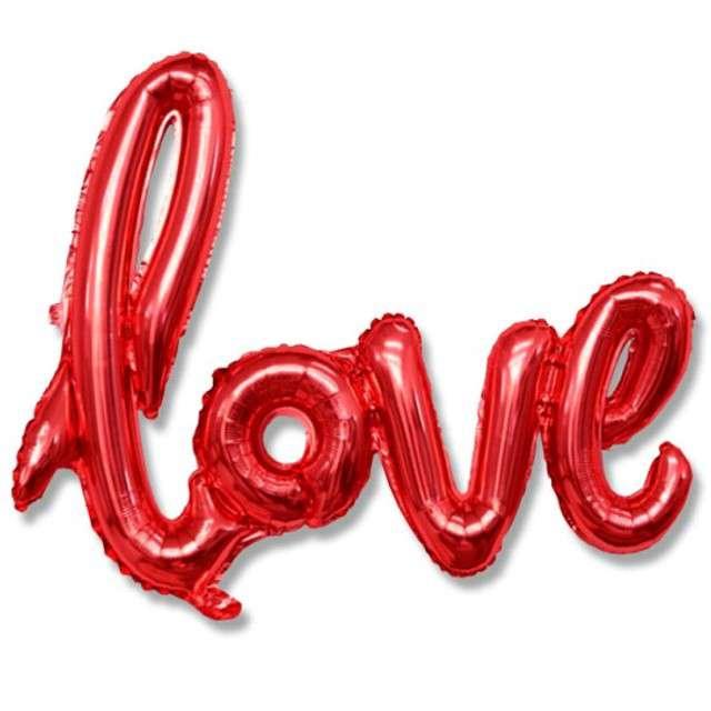 """Balon foliowy """"Love"""", czerwony, DekoracjePolska, 31"""" SHP"""