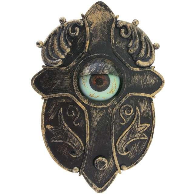 """Dekoracja """"Dzwonek do drzwi z nawiedzonym okiem"""", Funny Fashion"""