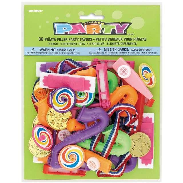 """Wypełniacz dekoracyjny """"Zabawki do piniaty"""",  Unique, mix, 36 szt"""