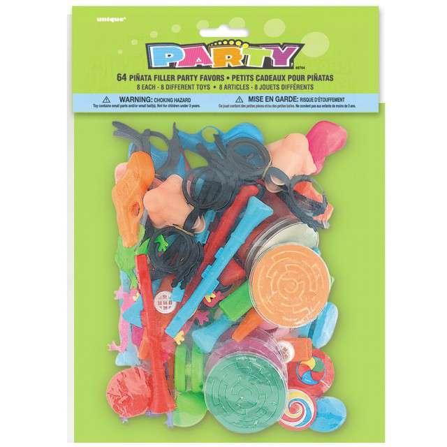 """Wypełniacz dekoracyjny """"Zabawki do piniaty"""",  Unique, mix, 64 szt"""