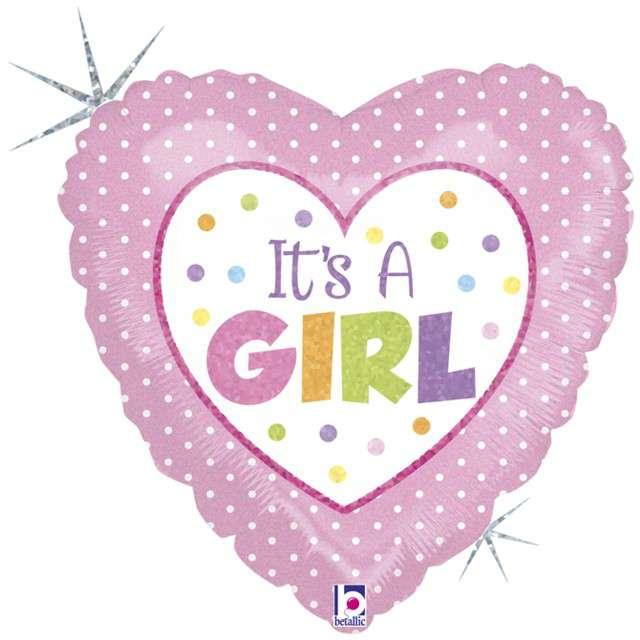 """Balon foliowy """"Its a Girl"""", GRABO, 18"""" HRT"""