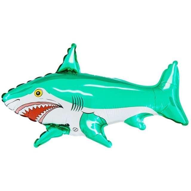 """Balon foliowy """"Rekin Sharky"""", miętowy, GRABO, 14"""" SHP"""