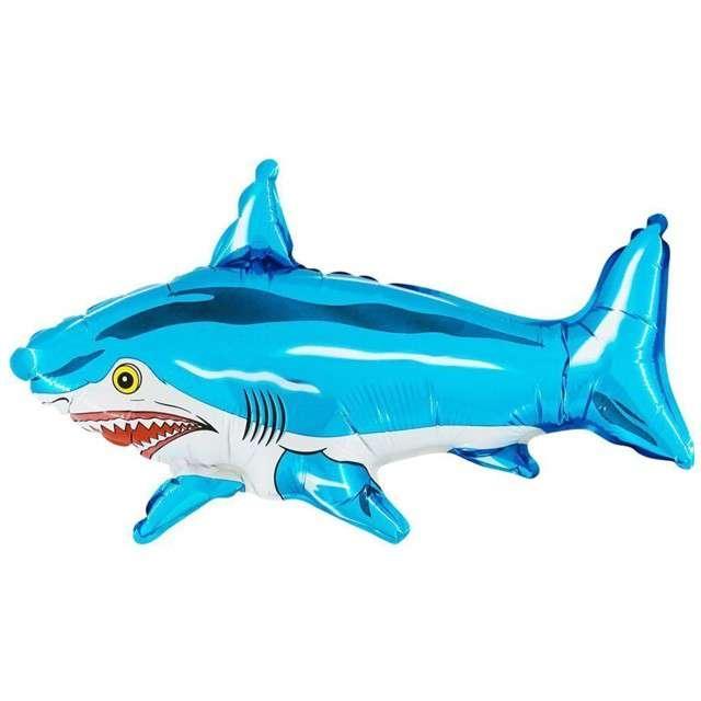 "Balon foliowy ""Rekin Sharky"", niebieski, GRABO, 14"" SHP"