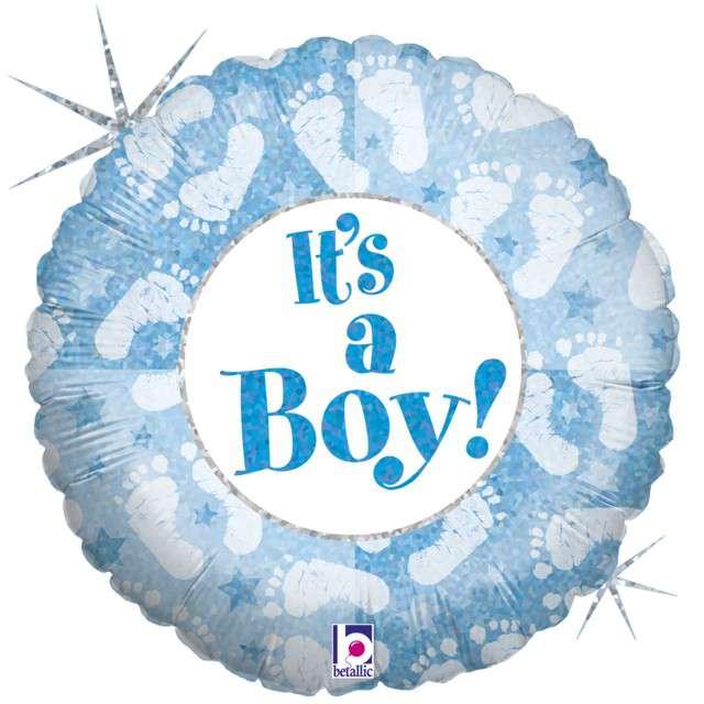 """Balon foliowy """"Stopy - Its a Boy"""", GRABO, 18"""" CIR"""