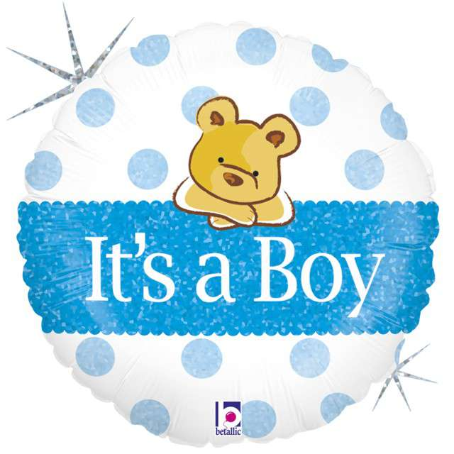 "Balon foliowy ""Misiu - Its a Boy"", GRABO, 18"" CIR"