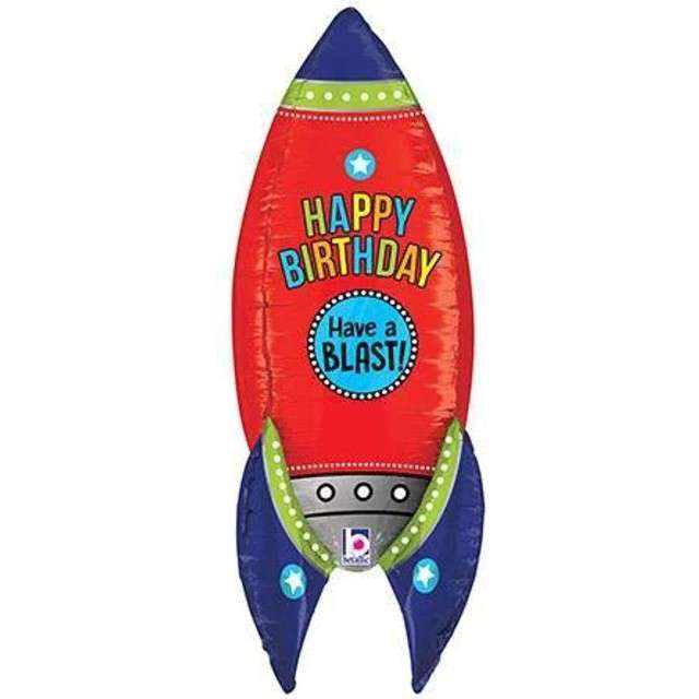 "Balon foliowy ""Rakieta - Happy Birthday"", GRABO, 36"" SHP"